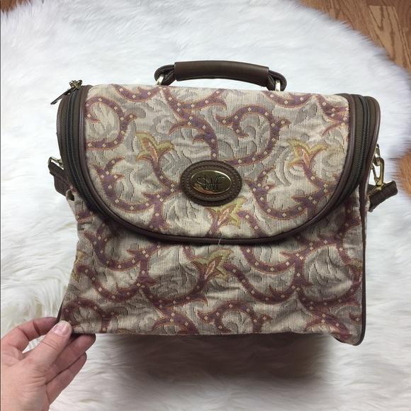 Diane Von Furstenberg Bags   Vintage Dvf Tapestry Train Case   Poshmark 768ec5afa2